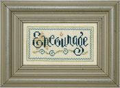 Lizzie Kate Double Flip, Encourage Love - Counted cross stitch pattern, chart, charms