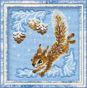 Riolis - Small Squirrel - counted cross stitch picture kit