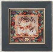 Mill Hill Autumn Series - White Pumpkins - beaded counted cross stitch kit