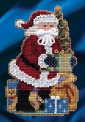 Mill Hill - Merry Christmas Santa MH20-4301 Christmas Ornament beaded counted cross stitch kit