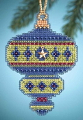 Mill Hill Christmas Jewels Peridot Ornament Beaded Counted cross stitch kit