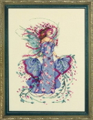 Mirabilia Designs October Opal Fairy MD132 beaded counted cross stitch pattern chart