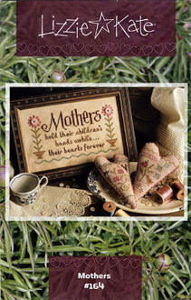 Lizzie Kate Mothers Counted cross stitch pattern chart with buttons