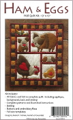 Rachel's of Greenfield Ham Eggs Wall quilt kit - felt applique, embroidery, sewing