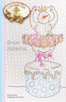 Crabapple Hill Studio Snow Ballerina Christmas Snowman hand embroidery pattern