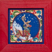 Jim Shore by Mill Hill - Reindeer JS30-4101 Christmas beaded counted cross stitch kit