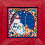 Jim Shore by Mill Hill - Snowman JS30-4103 Christmas beaded counted cross stitch kit