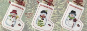 Permin Snowmen Stockings Christmas ornaments counted cross stitch kit
