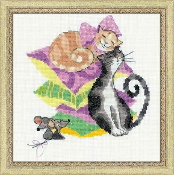Riolis - Cats Mice counted cross stitch picture kit
