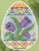 Mill Hill Spring Collection - Tulip Egg - beaded counted cross stitch ornament kit