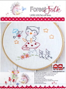 Red Brolly Forest Folk Owl hand embroidery kit