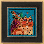 Mill Hill Laurel Burch Feathered Friend Cat beaded counted cross stitch kit