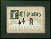 Lizzie Kate Double Flip, YCH - Christmas Counted cross stitch pattern, chart, buttons