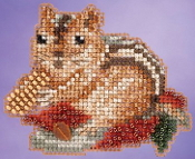 Mill Hill Autumn Harvest collection Chippy counted cross stitch ornament kit