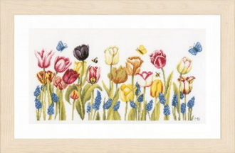 Lanarte - Tulips Marjolein Bastin - counted cross stitch picture kit