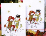 Tobin Home Crafts - Snowland Snowmen Kitchen Towels stamped for embroidery