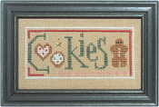 Lizzie Kate Double Flip, Cookies Santa - Christmas Counted cross stitch pattern, chart, charms