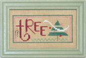 Lizzie Kate Double Flip, Tree Candy - Christmas Counted cross stitch pattern, chart, charms