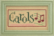 Lizzie Kate Double Flip, Carols Peace - Christmas Counted cross stitch pattern, chart, charms