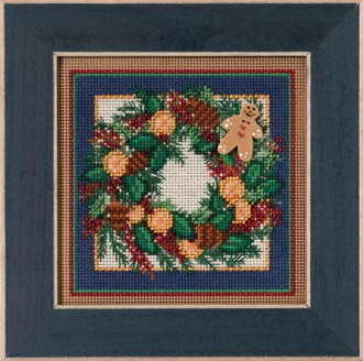 Mill Hill Christmas Counted cross stitch kit - Spiced Wreath