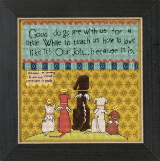 Mill Hill Curly Girl Design - Good Dogs inspirational beaded counted cross stitch kit