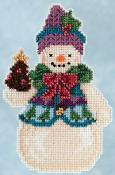 Jim Shore by Mill Hill - Pinecone Snowman JS20-5102 Christmas Ornament beaded counted cross stitch kit
