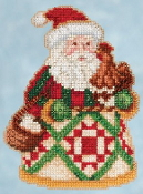 Jim Shore by Mill Hill - Early Morning Santa JS20-5104 Christmas Ornament beaded counted cross stitch kit