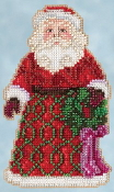 Jim Shore by Mill Hill - Greetings Santa JS20-5105 Christmas Ornament beaded counted cross stitch kit