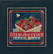 Mill Hill Spring Series Strawberries beaded counted cross stitch kit