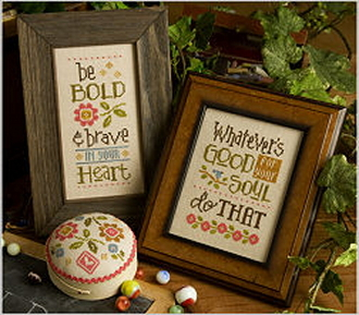Lizzie Kate Be Bold & Brave Counted cross stitch pattern chart