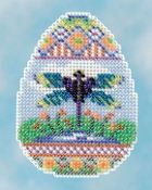 Mill Hill Spring Bouquet Collection Dragonfly Egg Easter beaded counted cross stitch ornament kit