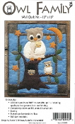 Rachel's of Greenfield Owl Family Wall quilt kit - felt applique, embroidery, sewing