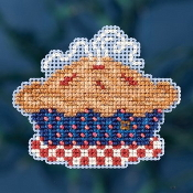 Mill Hill Autumn Harvest collection American Pie counted cross stitch ornament kit