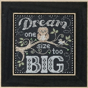 Mill Hill Chalkboard Quartet Dream Big beaded counted cross stitch kit