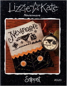 Lizzie Kate Snippet S120 - Nevermore Halloween counted cross stitch pattern