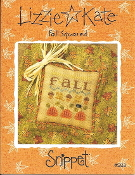 Lizzie Kate Snippet, Fall Squared Counted cross stitch pattern, chart