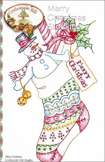 Crabapple Hill Studio Merry Christmas Stocking hand embroidery pattern
