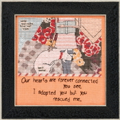 Mill Hill Curly Girl Design - You Rescued Me inspirational beaded counted cross stitch kit