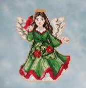 Jim Shore by Mill Hill - Angel with Cardinal JS20-1615 Christmas Ornament beaded counted cross stitch kit
