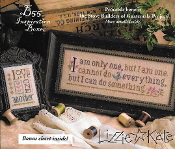 Lizzie Kate Boxer - I am only one counted cross stitch pattern, linen and embellishments