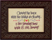 Lizzie Kate Snippet Cleaning the House counted cross stitch pattern