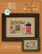 Lizzie Kate Double Flip, September October Yearbook Series Counted cross stitch pattern chart with charms