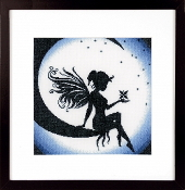 Lanarte counted cross stitch picture kit - Fairy on the Moon