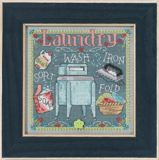 Mill Hill Spring Series Laundry beaded counted cross stitch kit