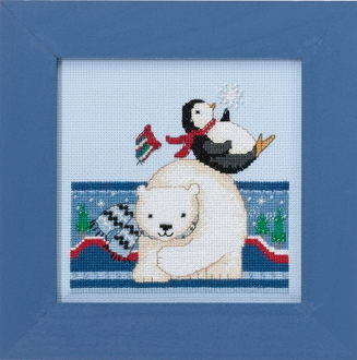 Mill Hill Polar Opposites - Polar Play beaded counted cross stitch kit