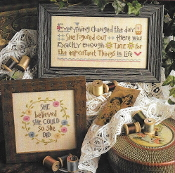Lizzie Kate She Believed She Could Counted cross stitch pattern chart