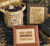 Lizzie Kate Coffee Time Counted cross stitch pattern chart