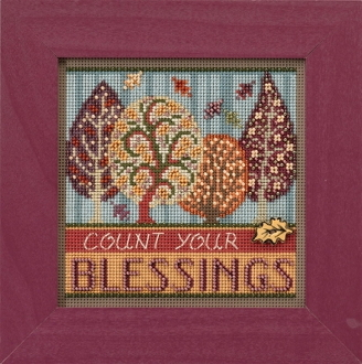 Mill Hill Autumn Series Blessings beaded counted cross stitch kit