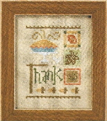 Lizzie Kate Thank Celebrate with charm Series Counted cross stitch pattern chart