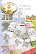 Crabapple Hill Studio Grandmas Tea Towels hand embroidery patterns